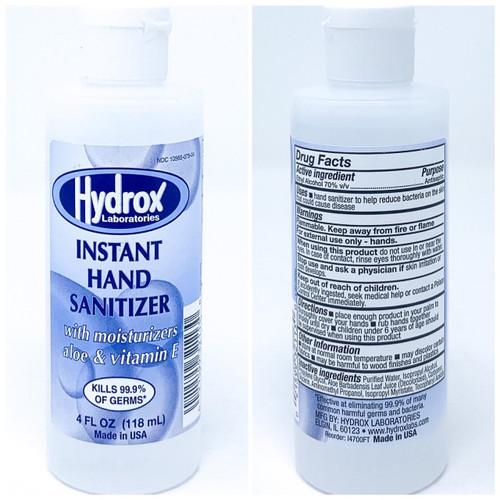 Hydrox Instant Hand Sanitizer - 4oz Flip-Top Bottle