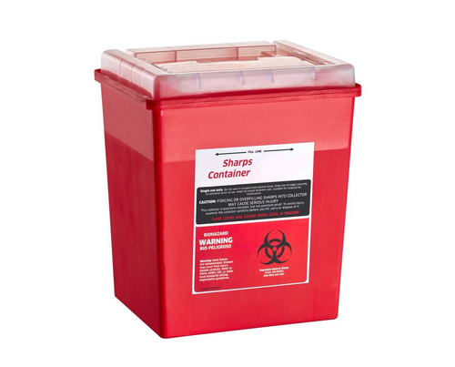 8 qt Sharps Container with Sliding Flip-Open Lid - Each