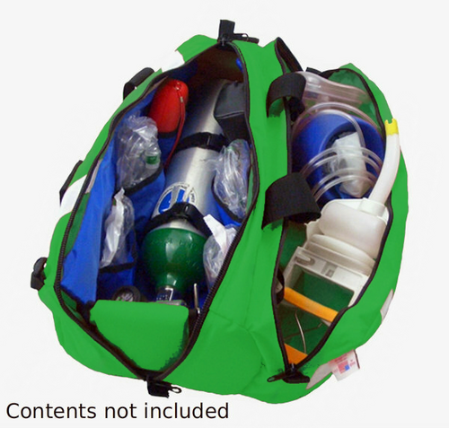 Oxygen Roll Bag w/ Pocket - GREEN VINYL