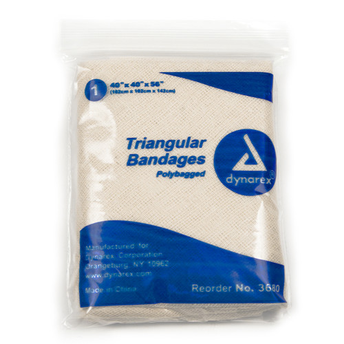 "Triangular Bandages 56"" - 12 per Box"