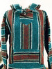Mexican Baja Men's Surfer Hoodie Poncho Green M