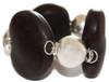 Mexican Sea Heart Pewter Bracelet