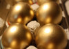Confetti Gender Reveal Mexican Cascarones Party Eggs - Silver and Gold