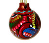 Mexican Talavera Pottery Christmas Ornament Decoration - Red
