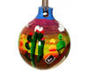 Mexican Pottery Christmas Ornament - Village