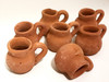 Mini Party Favor Mexican Tequila Pottery Jugs - Set of 10