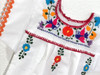 Girls Mexican Embroidered Dress Size 12 Months - Orange