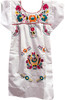 Girl's Mexican Fiesta Embroidered Dress White Size 7