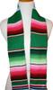 Graduation Stole Sash Mexican Serape Ethnic Scarf Green