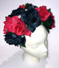Mexican Women's Red Black Rose Flower Crown