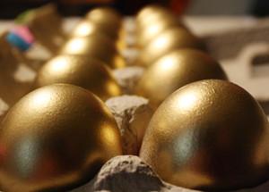 Confetti Eggs Mexican Cascarones Gender Reveal - Gold