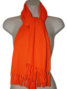 Mexican Rebozo Scarf Orange