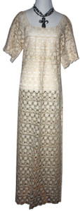Ivory Mexican Women's Lace Dress L