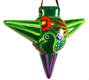 Mexican Pottery Christmas Ornament - Star 1