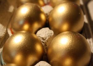 Golden Gender Reveal Mexican Cascarones Party Eggs