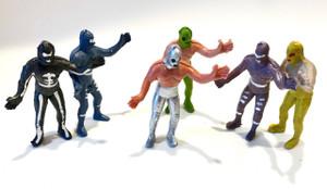 Mexican Wrestler Luchador Plastic Toy Figures