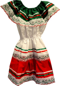 Girl's Baby Mexican Fiesta Embroidered Dress Toddler Size 1
