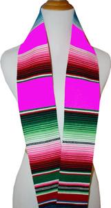 Graduation Stole Sash Mexican Serape Ethnic Scarf Pink