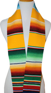 Graduation Stole Sash Mexican Serape Yellow Unisex