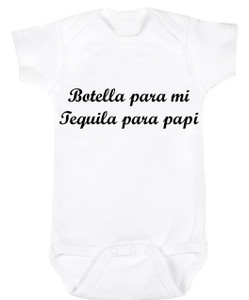 Baby Outfit Bodysuit Spanish Tequila Para Papi