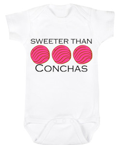 Baby Outfit Bodysuit Spanish Sweeter than Conchas