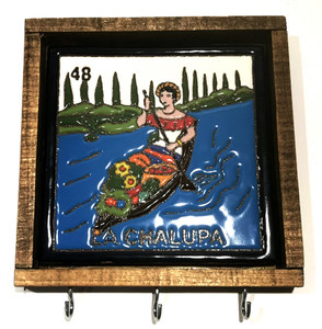 La Chalupa Key Holder Wall Mounted Mexican Talavera