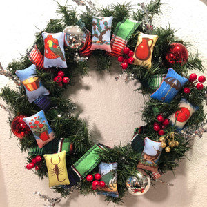 Mexican Loteria Ornaments Wreath
