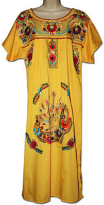 Yellow Mexican Dress XL