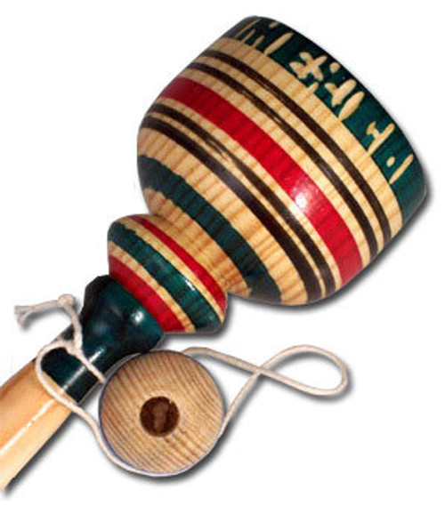 Mexican Wooden Toy Baleros Cup