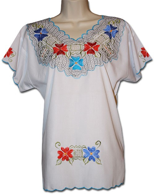 24e9b7bce8cc18 Mexican Embroidered Women s Blouse XL - My Mercado Mexican Imports