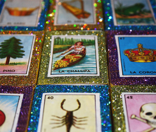 Mexican Wedding Favors Loteria Matchboxes - Set of 80
