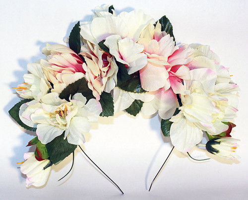 Ivory Frida Kahlo Flower Crown Women's Mexican Wedding