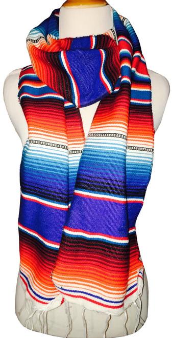 Mexican Blanket Serape Scarf Bohemian Wrap