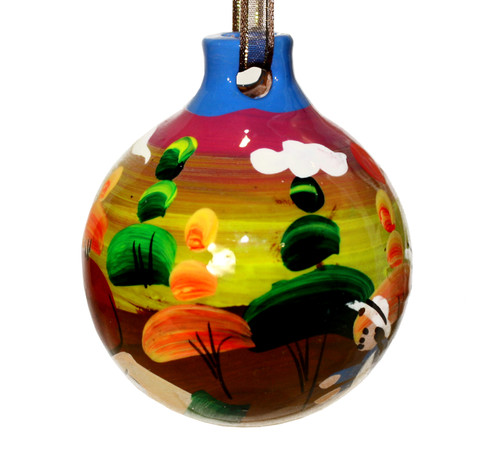 Mexican Pottery Christmas Ornament - Villages