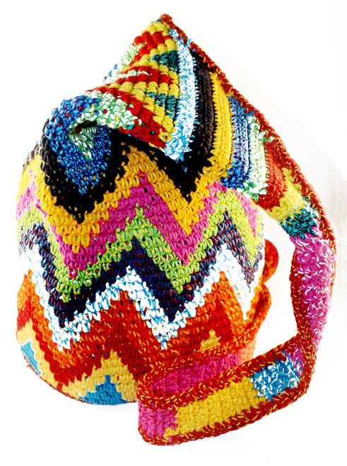 Wayuu Style Handbag Woven Mochil Purse Bag Handmade