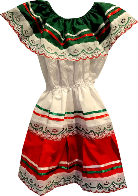 Girl's Baby Mexican Fiesta Embroidered Dress Size 1