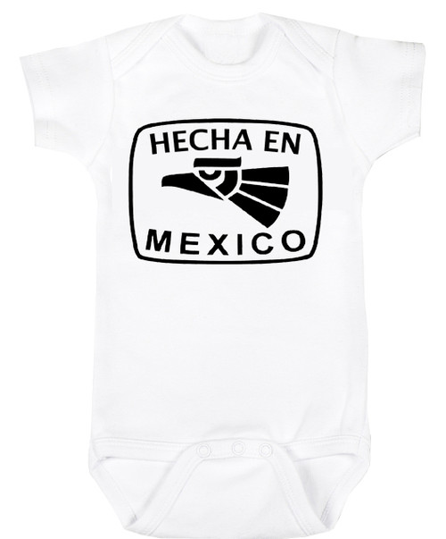 Baby Outfit Bodysuit Spanish Hecha en Mexico