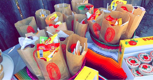Paper Favor Bags Virgen de  Guadalupe Candy Bar Bag