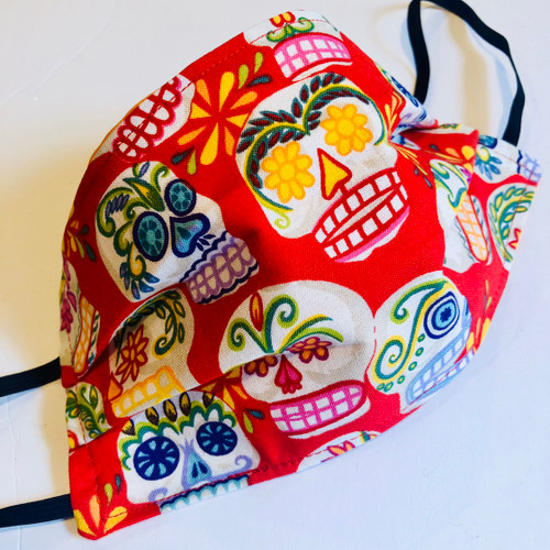 Face Mask Reusable Washable Cotton Mexican Day of the Dead