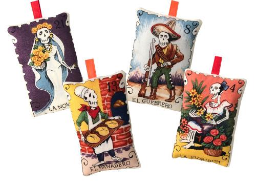 Dia de los Muertos Loteria Christmas Ornaments