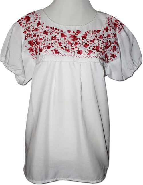 Embroidered Women's Peasant Blouse M