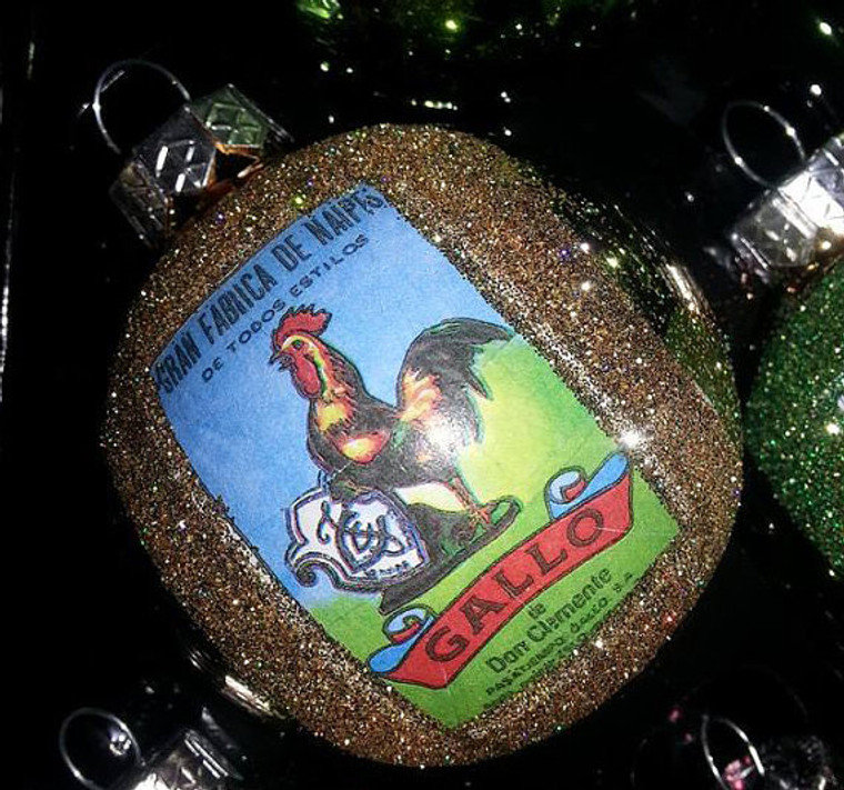 Loteria Mexican Christmas Ornaments