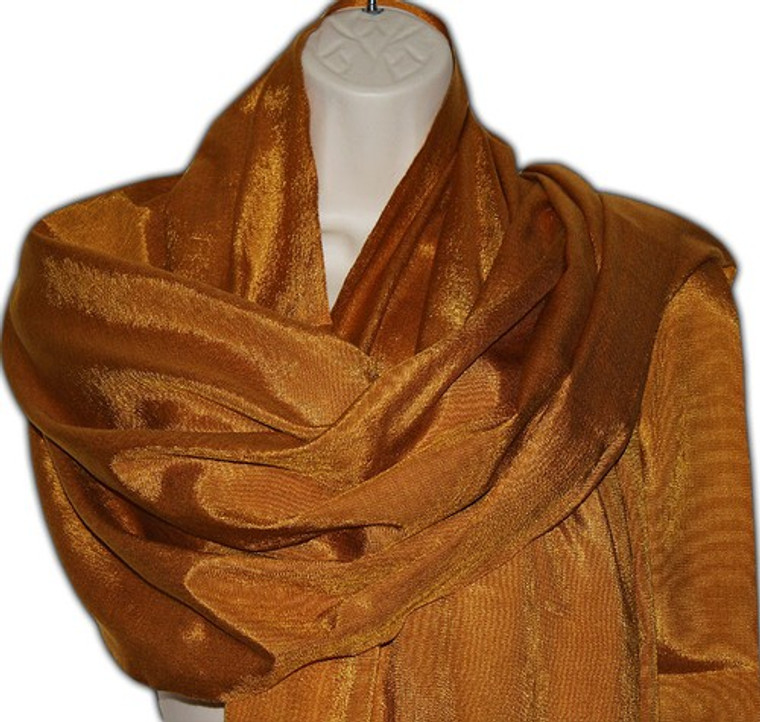 Mexican Rebozo Gold Shawl