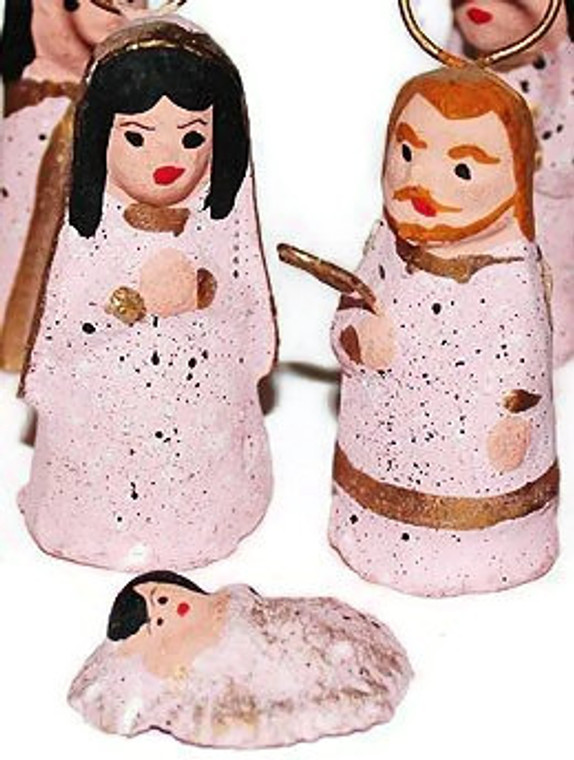 Mexican Nativity Christmas Creche - Pink