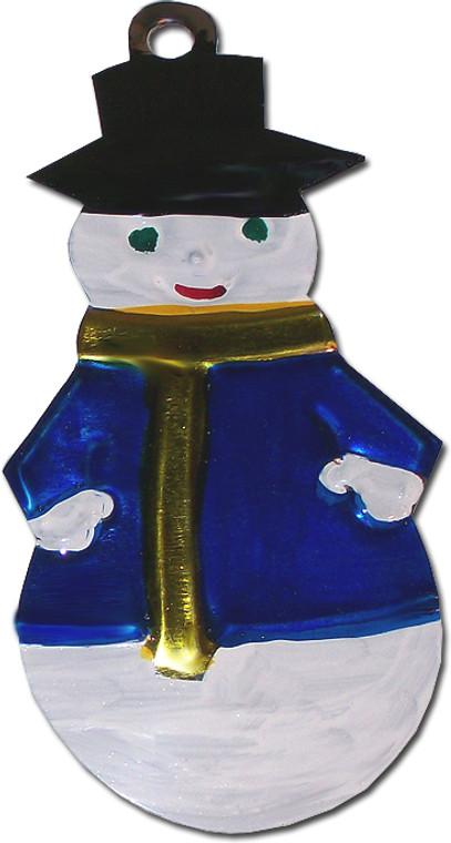 Mexican Tin Christmas Ornament - Snowman