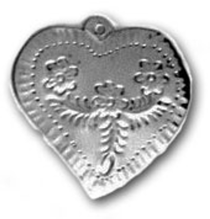 Mexican Tin Christmas Ornament - Heart 6