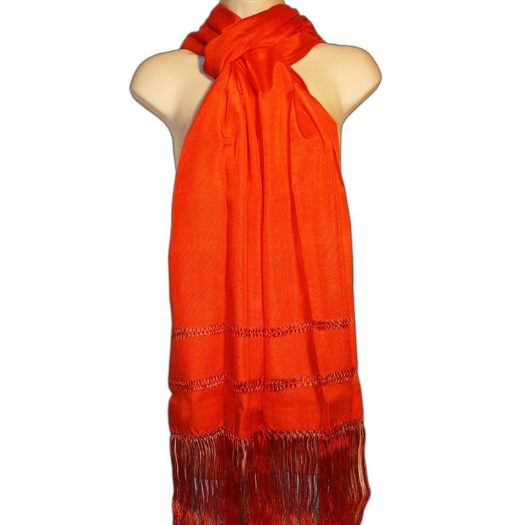 Orange Mexican Rebozo