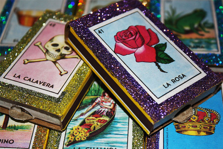 Mexican Senorita Wedding Birthday Matchbox Favors - Set of 30