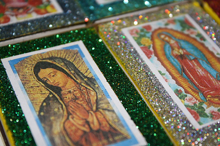 Mexican Wedding Favors Matchboxes Virgen de Guadalupe - Set of 12
