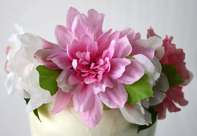 Garden Style Women's Wedding Flower Crown